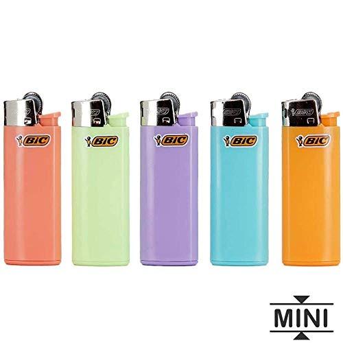 5 mini encendedores Bic Piedra Pastel