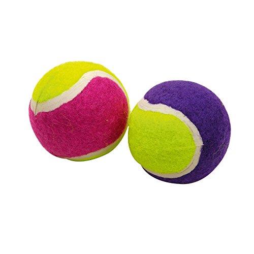 Douceur d'Intérieur CDaffaires Mini balles Tennis pour Chat en Caoutchouc x2 ø4cm