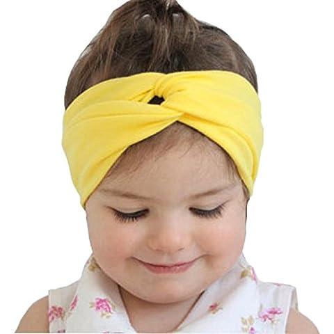 Tonsee® Bébé Enfant Filles Hairband bandeau de cheveux Accessoires Toddler Head Wrap (jaune)