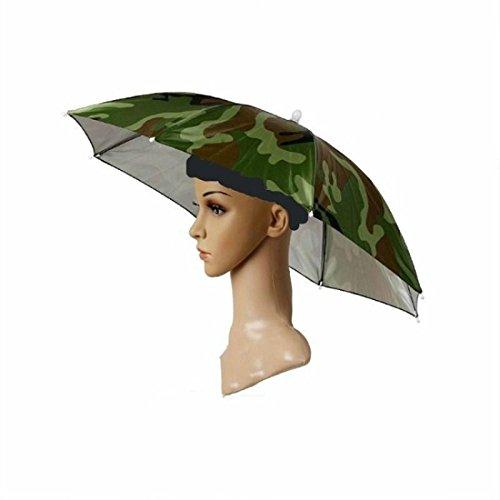 J&X Outdoor faltbaren Sonnenschirm Hut Golf Angeln Camping Kopfbedeckung Gap Kopf Hut (1pcs). -