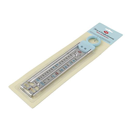 Tala Thermomètre pour conserves et confiseries avec poignée Bleu, Argent
