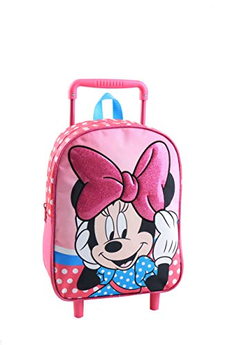 Jacob & Co. Trolley Backpack Minnie Mouse Zaino Bambini, 34 cm, Rosa