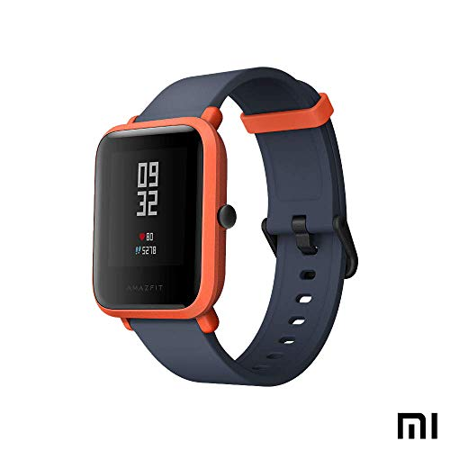 Amazfit Bip Xiaomi Smartwatch Esportes - Relógio Desportivo GPS | Monitoramento de atividades | Monitor de frequência cardíaca | Exercício de fitness | Esporte relógio (versão internacional) vermelho