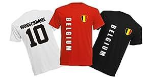 11 x Kinder T-Shirt Trikot Look – MINI EM 2016 – Belgien
