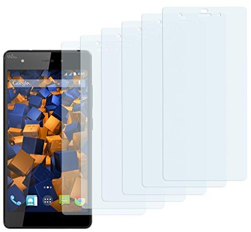 mumbi Schutzfolie kompatibel mit Wiko Pulp Folie klar, Bildschirmschutzfolie (6x)