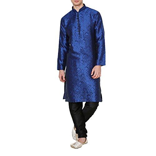 Royal Kurta Men's Jacqaurd Silk Festive Wear Kurta Pyjama Set