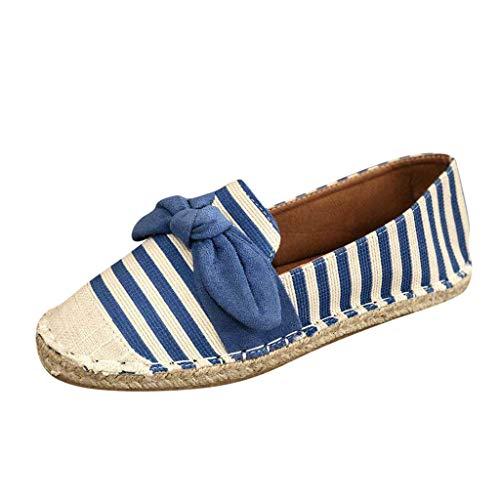 Damen Halbschuhe Espadrille Sandalen Flache Sommer Sandaletten Plateau Strand Hausschuhe Pantoletten Bequeme Elegante Schuhe Sommersandalen Hausschuhe (EU:39, Blau) Halbschuhe Hausschuhe