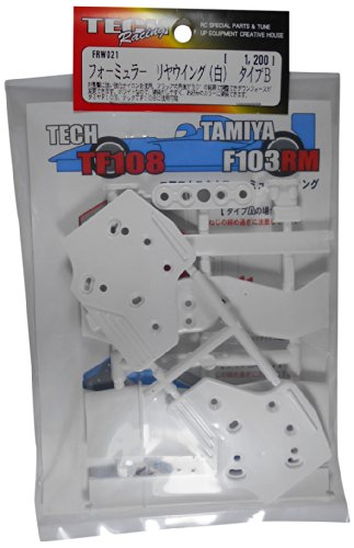 Tech Racing FRW021 ala Foermula trasera (blanco) tipo B (TECH RECING)
