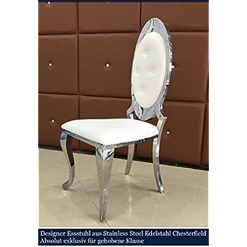 Esstischstuhl Weiß opal chesterfield kunstleder esstischstuhl esszimmerstuhl essstuhl