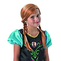 Fancy Ole - Costume Accessories Kids Girls Girl Anna Wig Frozen with Braids, Perfect for Carnival, Fancy Dress and Carnival, Light Brown