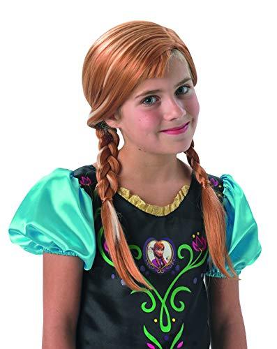 Fancy Ole - Kostüm Accessoires Zubehör Kinder Mädchen Girl Anna Perücke aus Frozen mit Zöpfen, perfekt für Karneval, Fasching und Fastnacht, Hellbraun