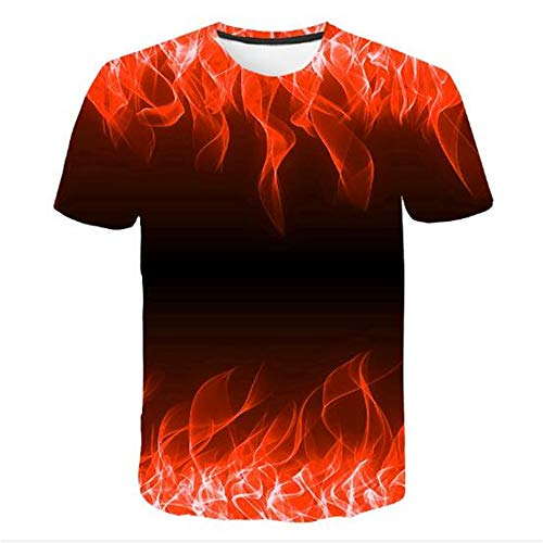 3D Print Weste Herren Tank Top Fitness Ärmelloses Shirt Herren Bekleidung Sportswear Unterhemd Sommer,Rote Flamme 3D schwarz rot L
