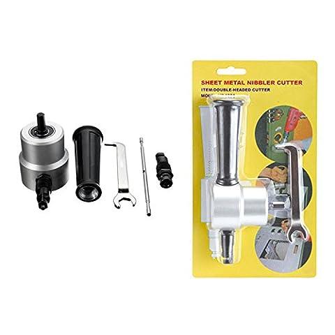 5pcs Double Head Sheet Metal Nibbler Cutter Power Drill Attachment