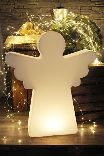 Arnusa Oasis Lights Engel Lampe PL115 LED Akku Weihnachtsbeleuchtung Stehlampe Deko Lampe RGB Farbwechsel mit Fernbedienung