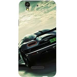 Casotec Sports Racing Design Hard Back Case Cover for YU Yureka Plus