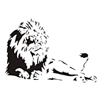 Cosanter Creative Wall Stickers Domineering Lion Art Mural Wall Stickers 34.65*22.83 Inch