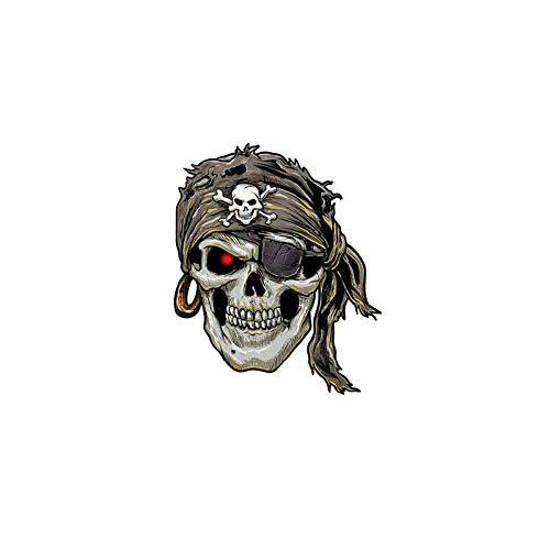 Vinilo Pegatina Adhesivo Calavera Pirata Coches, caravanas, Jeep,...