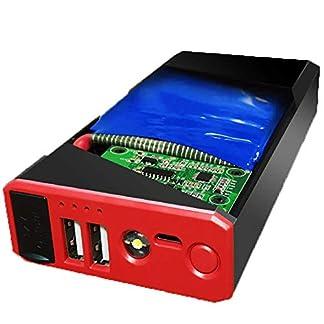 LALEO Arrancador de Coches (hasta 5, 0L Gasolina o 4, 0L Diesel), 400A 7500mAh 12V IP68 Impermeable con Carga Rápida QC3.0 USB Linterna LED Powerbank Jump Starter