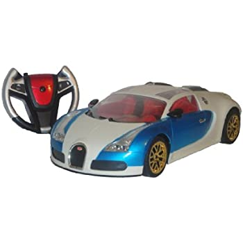 BUGATTI VEYRON 1:10 SCALE REMOTE RADIO CONTROL CAR GIANT SIZE RECHARGEABLE BATTERY PACK WITH LIGHTS AND REVS FULL FUNCTIONS