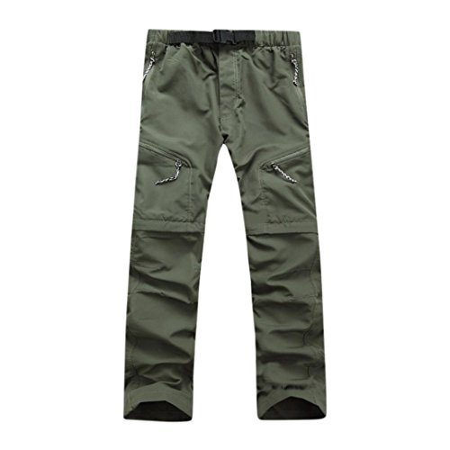 GreatestPAK Pants Abnehmbare Herren Hose Schnelltrocknende Herren Outdoor-Hosen Sommer dünne Wasserdichte Hosen - Belted Check