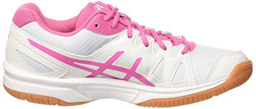 Asics Gel-Upcourt Gs, Chaussures de Volleyball Mixte Enfant Multicolore (White / Azalea Pink / White)