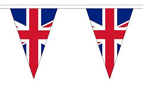 Union Jack Triangle 20m Wimpelkette (54Flaggen)