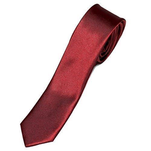 Business Krawatte 5cm schmal - Slim Tie - in verschiedenen Uni-Farben (5 Tie Cm)