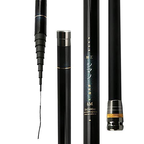 LZH Ultra léger 2:8 Canne à pêche 8M-12M Fibre de...