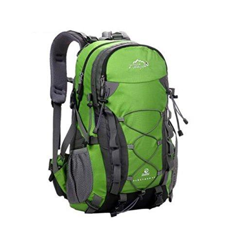 Outdoor Wasserdicht Reise Rucksack Schulter Tasche Für Wandern Camping 40L Green