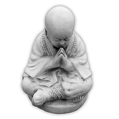 Buddhistischer Mönch Steinfigur Buddha Skulptur Gartendeko Steinguss frostfest
