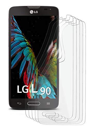 5X LG L90 | Schutzfolie Matt Bildschirm Schutz [Anti-Reflex] Screen Protector Fingerprint Handy-Folie Matte Bildschirmschutz-Folie für LG L90 Bildschirmfolie