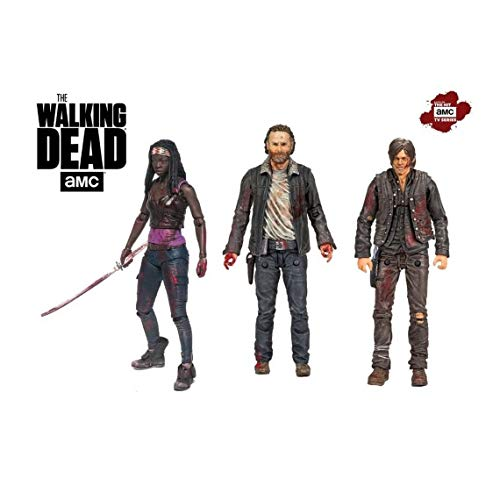 The Walking Dead 14523 - Figura de héroe, Daryl y Michonne TV