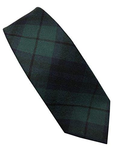 Reloj para hombre de cuadros escoceses corbatas 100% lana, fabricado en diseño con bandera de Escocia
