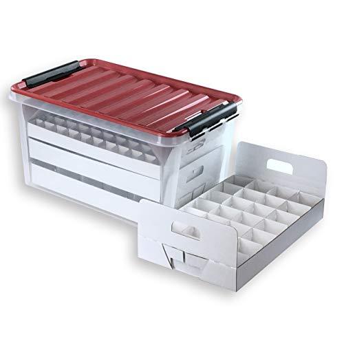 Christbaumkugeln Hochwertig.Quality Collection Top Box Compact Aufbewahrungsbox Fur Christbaumkugeln