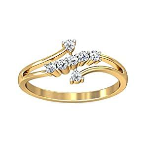 Belle Diamante 18KT Yellow Gold and Diamond Ring