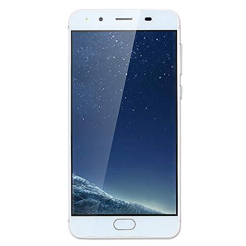 e, Jamicy ® 5,5 Zoll Bildschirmanzeige, Ultradünnes Mobiltelefon, Android5.1 Quad-Core 512MB + 4 GB GSM 3G WiFi Dual-SIM-Dual-Kamera-Mobiltelefon (Weiß) ()