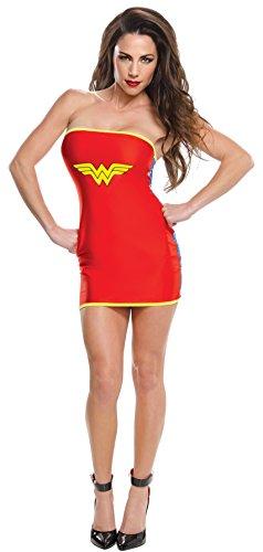 Rubie`s Vestido disfraz de Wonder Woman sexy para mujer