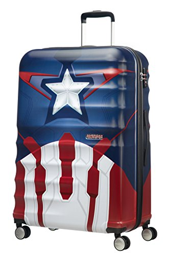 American Tourister - Disney Wavebreaker Spinner Marvel, 77 cm, 96 L, Captain America Close-Up