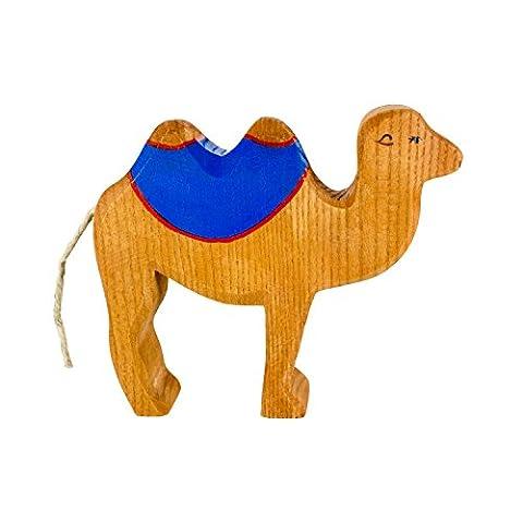 Großes Kamel aus Holz (mit Sattel) – Weihnachten Holzspielzeug, aus Schwäbischer Handarbeit (100% ökologisch) von Holzspielwaren