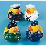 One Dozen (12) Armed Forces Rubber Duck ...