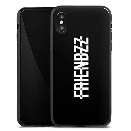 Apple iPhone X Silikon Hülle Case Schutzhülle Christezz Fanartikel Merchandise FRIENDZZ Silikon Case schwarz