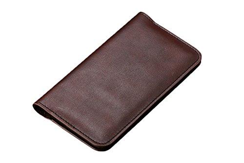 Exklusiver Echtleder Smartphone Geldbeutel - Geldbörse / Tasche / Hülle / Case / Halter / Kartenhalter / Kartenetui / Schutzhülle / Schlüsselmäppchen / Etui - Geld / Bargeld / Geldscheine (Anzüge Amerika)