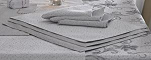 Christmas Napkins Glitter Effect Part Of The Ravina Silver Grey Christmas Range Of Table Linen