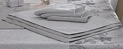 Glitter Effect Place Mats In Ravina Silver Grey
