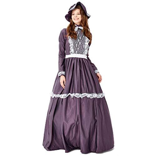 Mittelalterliche Kostüm Weibliche - DUQA Mittelalterliche Kost¨¹mparty Damenbekleidung Farm Manor Kost¨¹m Mittelalterlicher Damenrock M?dchen Halloween Kost¨¹m