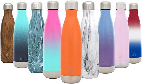 Simple Modern 750ml Wave Wasserflasche - Trinkflasche Vakuum Isolierte Doppelwandige 18/8 Edelstahl...