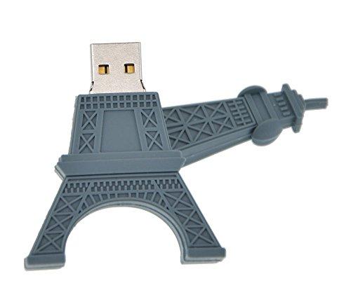 Shooo 8GB Dibujos animados Torre Eiffel Novedad memoria USB