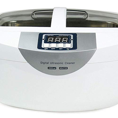 UltraschallreinigungsgeräT Ultraschallreiniger Ultraschallreiniger Cleane 70W 2.5L Digital Beheizter Reiniger Geeignet Zum Reinigen Von Gläsern/Schmuck/Uhren/Gemüse/Früchten/Gebiss-Weiß