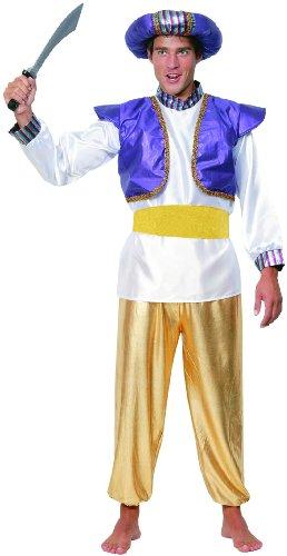 Generique - Sultan-Kostüm für Herren Gold-lila L (Sultan Kostüm Für Erwachsene)