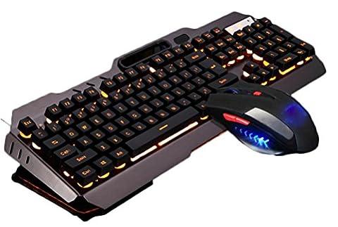 YY Mécanique clavier tactile souris jeu rétro-éclairage jeu souris clavier câblé , c